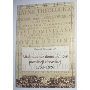 Misje ludowe dominikanów prowincji litewskiej w latach 1751-1826 — Sławomir Brzozecki OP
