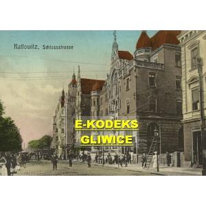 Katowice ul. Zamkowa — Kattowitz Schlossstrasse 1911 r.